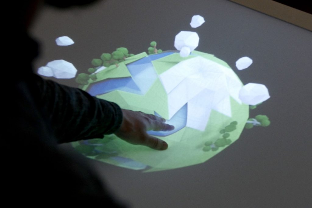 Multitouch in 3D – KREEK